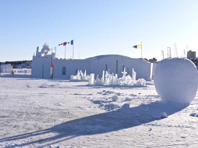Ice garden in front of the castle