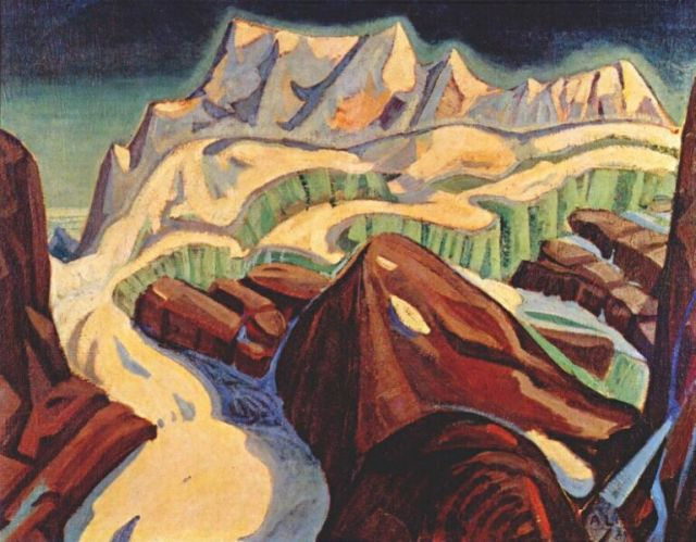 Glacier Above Moraine Lake, by Arthur Lismer
