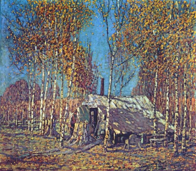 The Guides Home, Algonquin, by Arthur Lismer