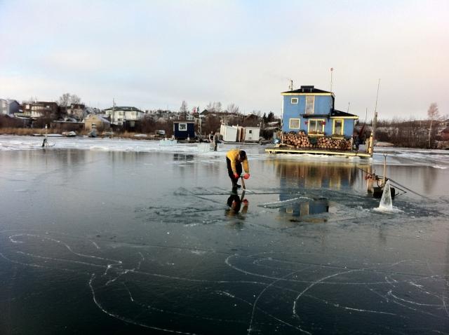 Tony begins to build ice castle #19