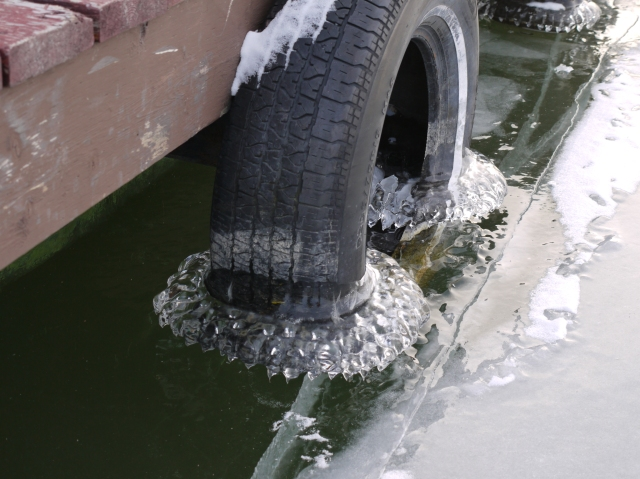 Tire with ice tutu