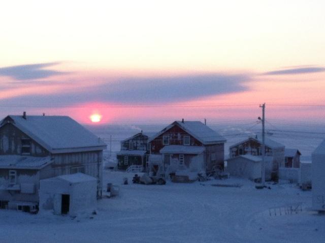 Sunset.  Sunrise looks just the same.
