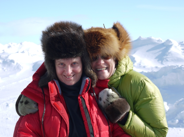 Anna and Linda, our trip companions, resplendent in new fur hats