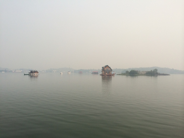 Smoky View of Houseboat Bay