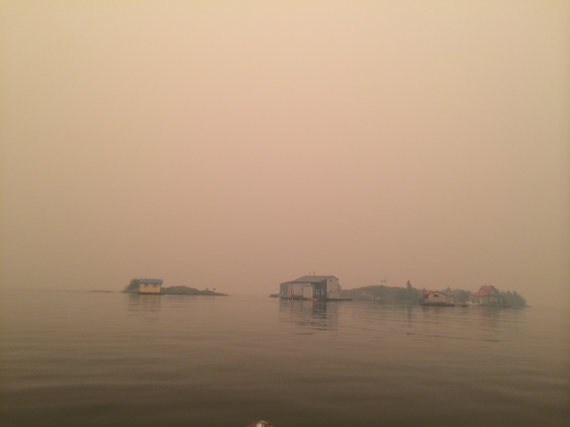 Apparently we live on the edge of the known world - at least it looks that way in the smoke