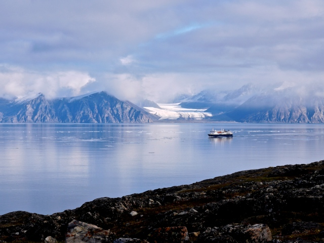 The National Geographic Explorer in Pond Inlet
