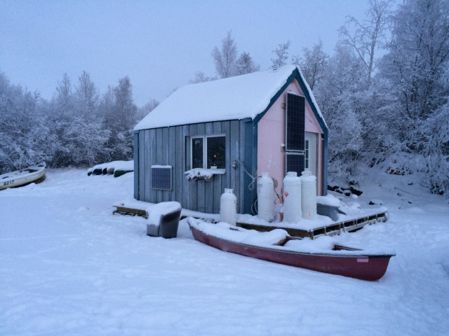 Even cuter houseboat - orange at one end and pink on the other.  A cute hipster woman lives here.