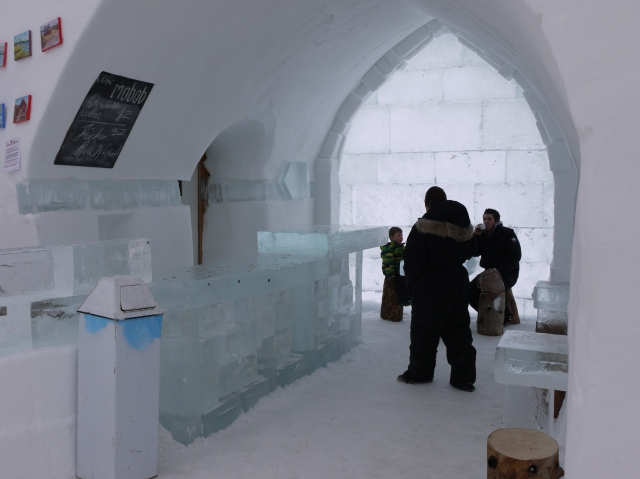 Frozen coffee shop at the castle