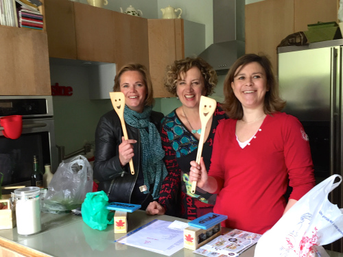 My friends at Succulent Paris enjoying the treats I brought them from Alberta - photo - Kim Irving