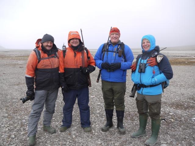 Marco, Ken, Cody and Aaron, the One Ocean Bear Patrol Team.